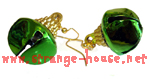 "Bakki Jingle Bells Earrings - Green / Small Pair / 1"" Bells"
