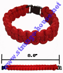 "Survival Bracelet 8.0"" Red"