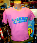 Bakwuds Skateboards Team Logo Girl Shirt Pink / Large