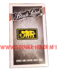 Black Label Elephant Frame Enamel Pin