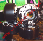 Bones 100's Wheels - 52mm / Black
