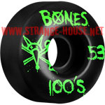 Bones 100's Wheels - 53mm / Black / Original Formula / V4
