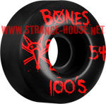 Bones 100's Wheels - 54mm / Black / Original Formula / V4