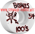 Bones 100's Wheels - 54mm / White / Original Formula / V1