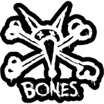 "Bones Vato Stacked 12"" Sticker White with Black Background"