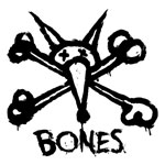 "Bones Vato Stacked 12"" Sticker Black with White Background"