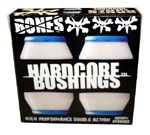 Bones Hardcore Bushings Soft / White (2 Trucks)