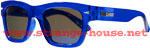 Brigada Big Shot Sunglasses / Clear Blue