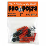 "Bro Style Bro Bolts Phillips Head 1"" Mounting Hardware Blk/Ornge"