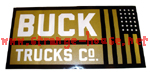 "Buck Trucks Flag Sticker - Black & Gold - 5"" x 2.5"""