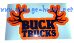 "Buck Trucks Rack Sticker - Orange & Black - 5.25"" x 3.25"""