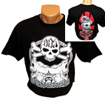 BDS Skull 'n Roses T-Shirt - Black / Medium