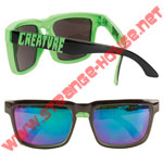 Creature Arachnids Square Sunglasses - Black / Green