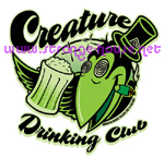 "Creature Drinking Club 3.5"" x 3.5"" Decal on Clear Vinyl"