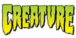 "Creature Logo Sticker 2"" x 4"" on Clear Vinyl"