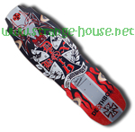 Deathbox Skateboards Dave Hackett Rocket Deck - Red / 9.875""