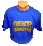 "Deep South Clothing ""MothaF'n "" T-Shirt Blue/Gold / 3XL"
