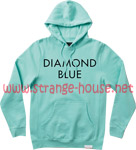 Diamond Blue Hoodie - Blue / Black - Medium