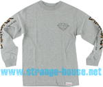 Diamond Supply Co. Low Life Long Sleeve T-Shirt Heather Gry / XL