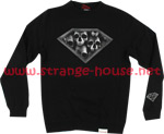 Diamond Skulls Crewneck Sweatshirt Black / Medium