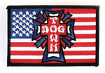 "Dogtown Skates Flag Cross Patch / 4"" x 2.75"""