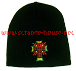 Dogtown Rasta Cross Skull Cap Beanie / Black - OS