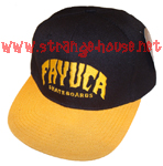 Fayuca Skateboards HuckBack Adjustable Hat / OS / Black/Yellow