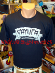 Fayuca Skateboards Silver Logo T-Shirt Black / Large