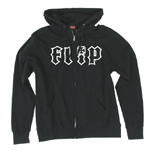 Flip HKD Outline Zip Hoodie Black / Small