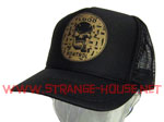 Flood Kontrol Logo Trucker Mesh Cap - Black / Gold - One Size