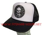 Flood Kontrol Logo Trucker Mesh Cap - Black / White - One Size