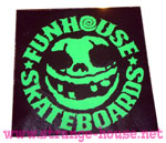 "Funhouse Sticker 3"" Square Black / Green"
