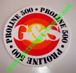 "G&S Proline 500 Sticker 3"" Round"