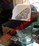 Gravity Trucker Mesh Cap Black/White Cap w/ Black Logo