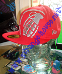 Grenade Crop Fitted New Era 59Fifty Cap 7 5/8 Red w/ Silver Logo