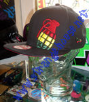 Grenade Rasta Bomb 9Fifty Snap Back Cap / OSFM / Black - Rasta