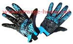 Grenade War Gloves / Black & Blue / XL