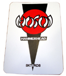 "Hosoi Hammerhead White Sticker 3.5"" x 2"""