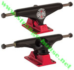 Independent 139mm Forged Titanium Trucks Flat Black / Ano Red