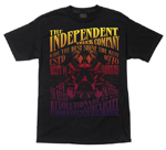 "Independent ""All Go No Show"" Black T-Shirt Large"