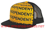 Independent Axle Bar Trucker Mesh Hat Black/ Adjustable OS