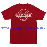 Independent Baseplate BC Cardinal Red T-Shirt / Large