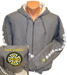 "Independent ""Classic Colors"" Heavyweight Zip Hoodie XXL Gray"