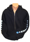 "Independent ""Classic Colors"" Heavyweight Zip Hoodie XXL Black"