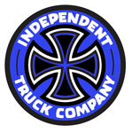 "Independent Colored TC 2"" Sticker - Blue / Black"