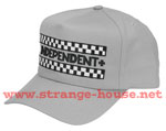Independent Finish Line Adj. Twill 5 Panel Cap - Gray