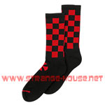 Independent Finish Line Crew Socks Black / Red - 2 Pair