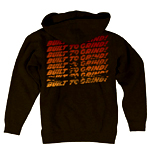 Indy Ground Bar Zip Hoodie Large Black