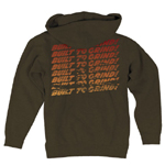 Indy Ground Bar Zip Hoodie XL Cocoa
