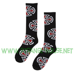 Independent Crosses Tall Socks Black - Single Pair